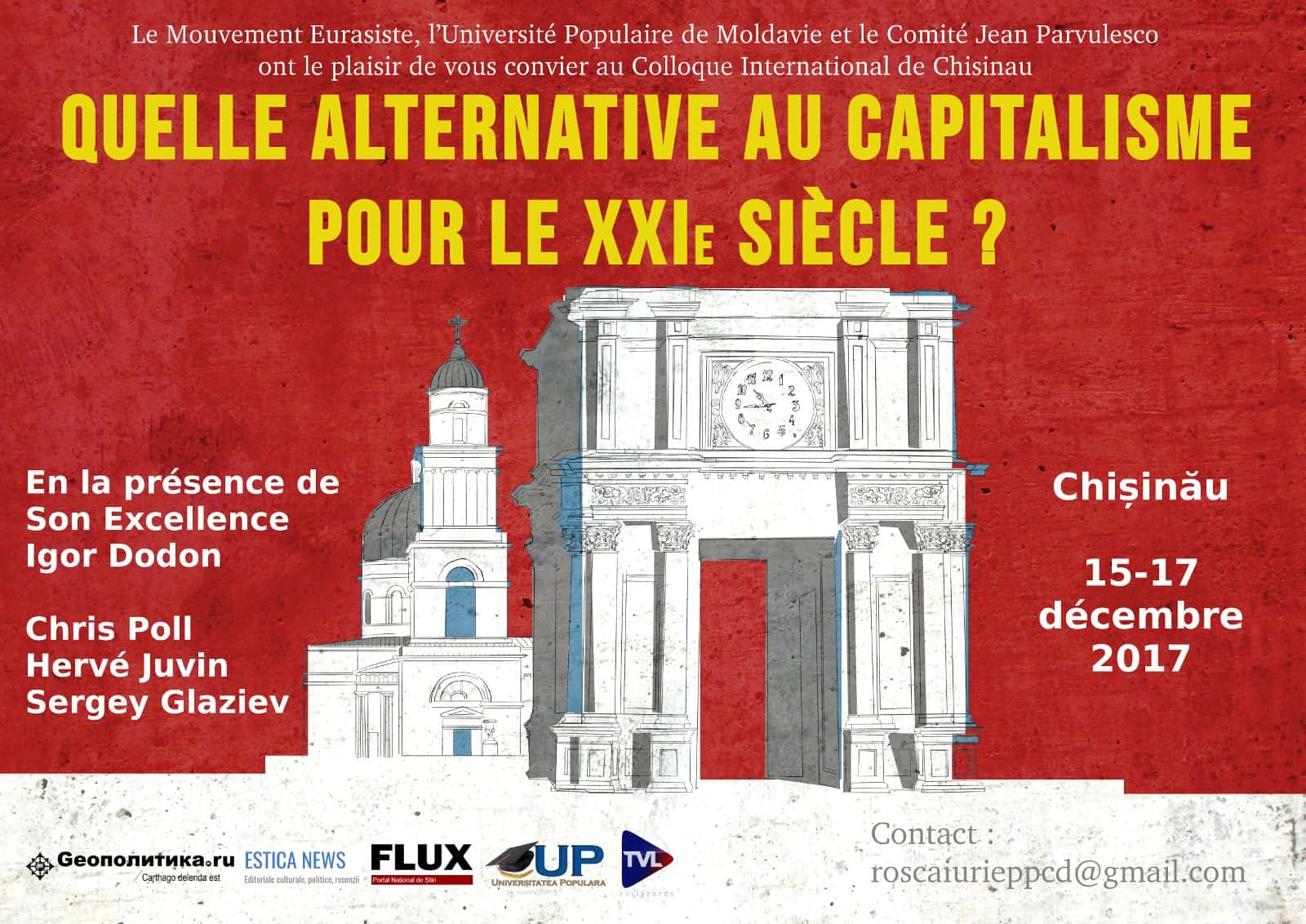 Colloque international Moldavie CHISINAU ANTICAPITALISME