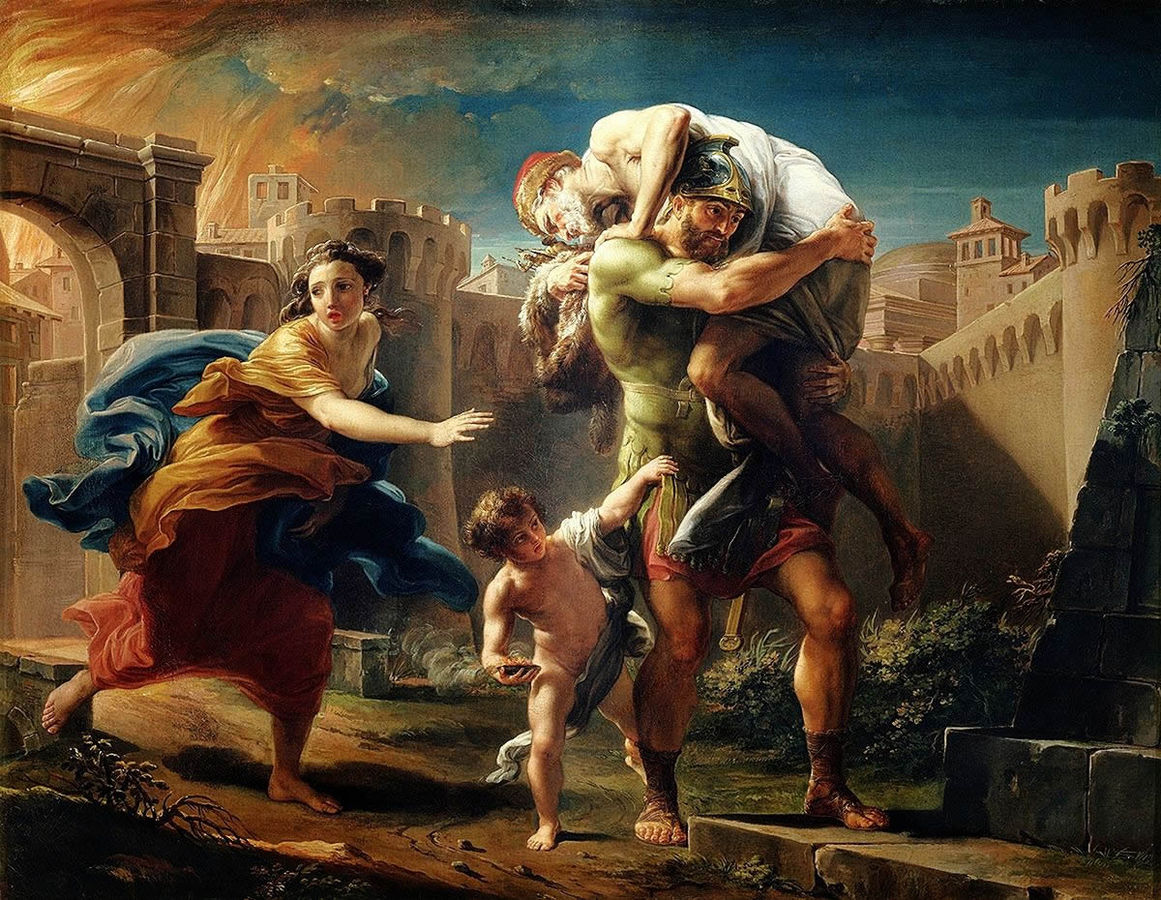 Pompeo Batoni Aeneas fleeing from Troy 1753