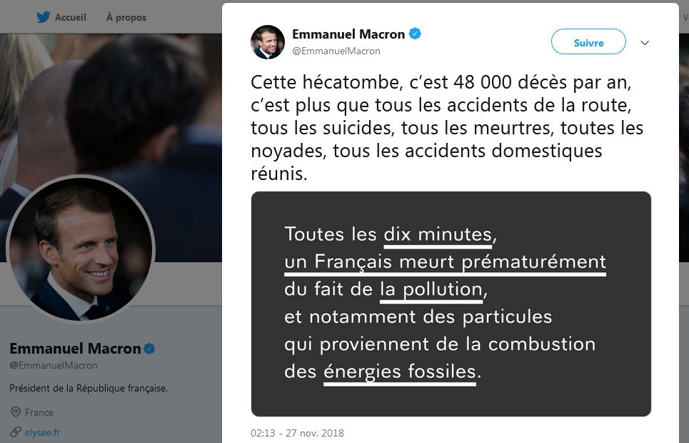 scandale d'etat 48000 morts pollution macron